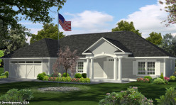3D Exterior Perspective Render Residence USA