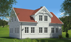 3D Exterior Render Perspective Residence Norway