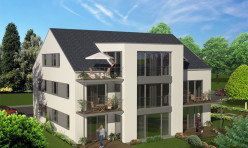 3D Exterior Rendition Aerial Perspective Germany Residential Development