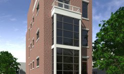 3D Exterior Rendition Apartments USA