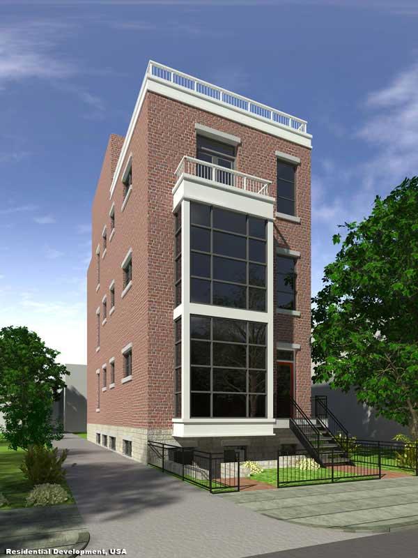 3D Exterior Rendition Apartments USA