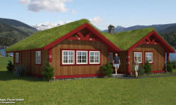 3D Exterior Visualization Cottage Faroe Island