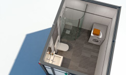 3D Interior Render Norway Bathroom 2 Aerial Perspective