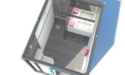 3D Interior Render Norway Bathroom 5 Aerial Perspective