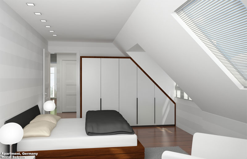 3D Interior Visualization Bedroom Germany