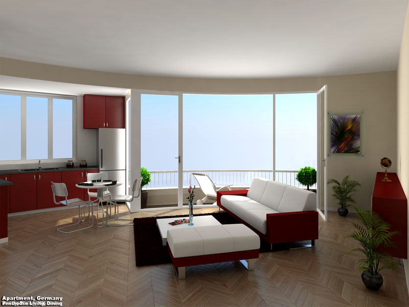 3D Perspective Render Germany Apartment