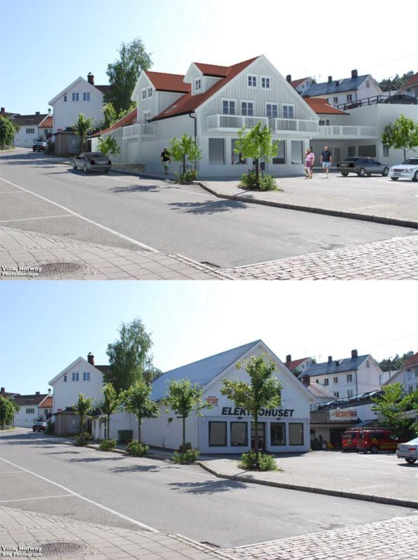 3D Photo Montage Visualization Residence Sweden