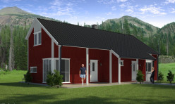 3D Photo Realistic Exterior Residential Render Sweden