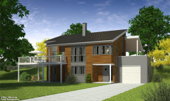 3D Photo Realistic Exterior Residential Rendition Sweden