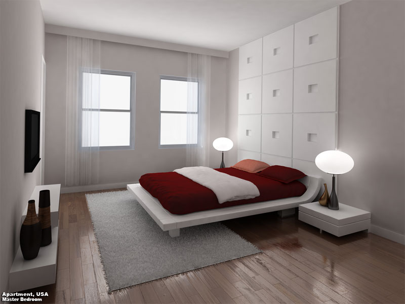 3D Photo Realistic Interior Rendition Bedroom USA