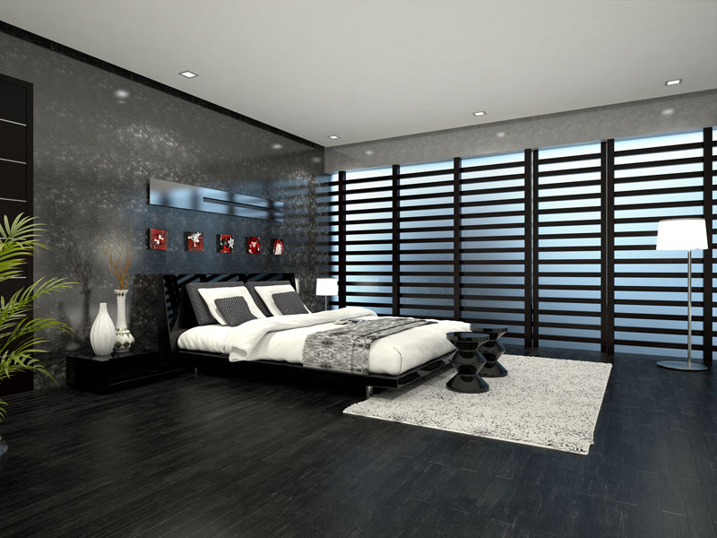 3D Photo Realistic Interior Residential Visualization Guest Bedroom Chennai India