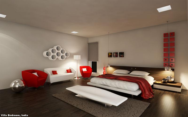 3D Photo Realistic Interior Visualisation Bedroom India