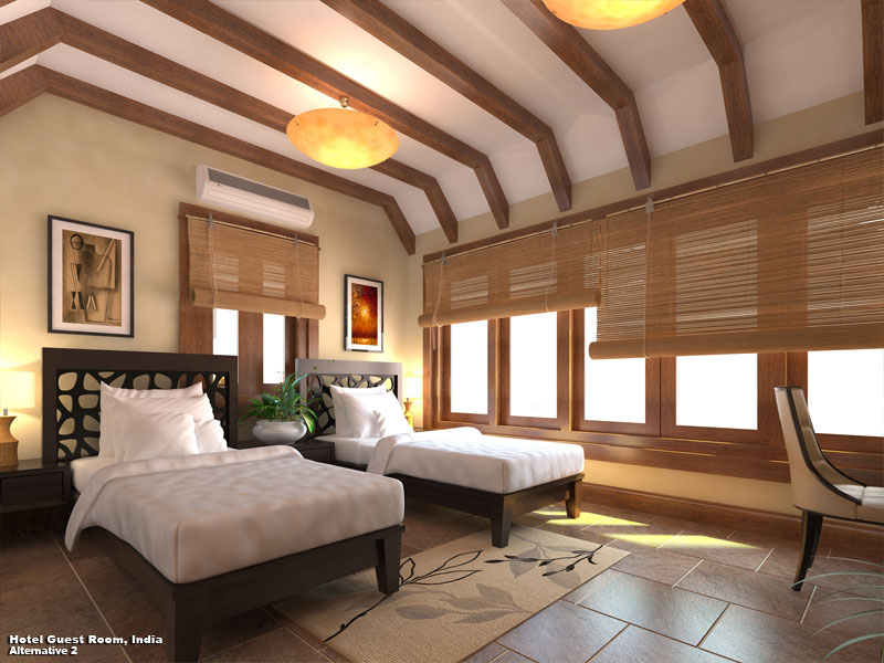 3D Photo Realistic Interior Visualization Guest Bedroom India