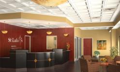 3D Photo Realistic Interior-Visualization Hospital Lobby USA