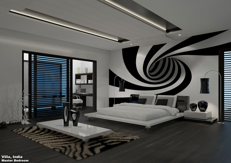 3D Photo Realistic Interior Visualization Master Bedroom India