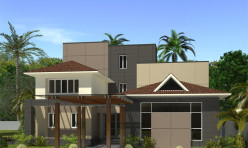3D Photo Realistic Residential Exterior Rendition Chennai India