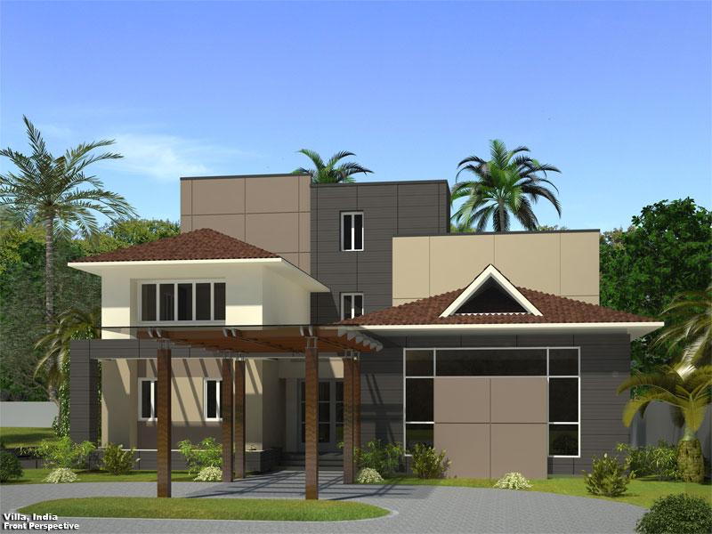 3D Photo Realistic Residential Exterior Rendition Chennai India