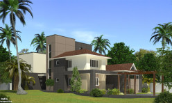 3D Photo Realistic Residential Exterior Visualization Chennai India
