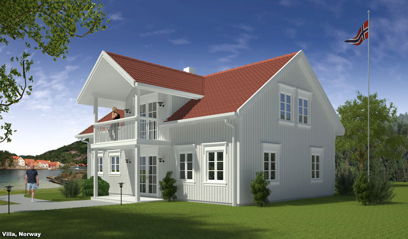 3D Rendition Exterior Perspective Residential Norway