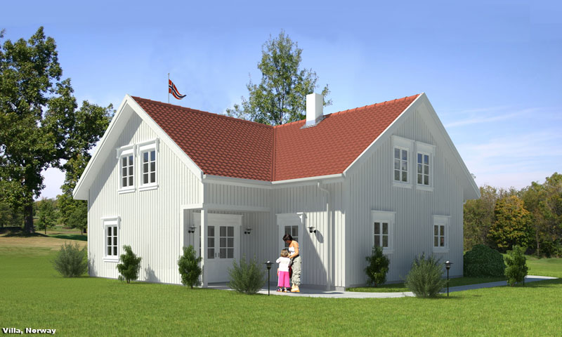 3D Residential Exterior Perspective Visualization Norway