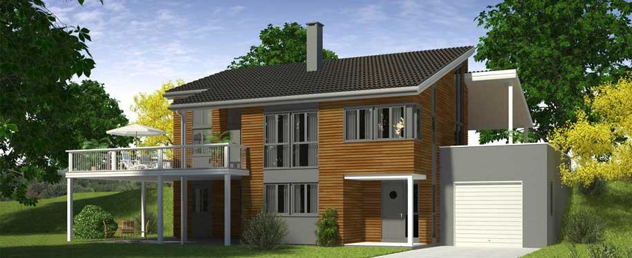 3D Exterior Visualization Big Villa Norway