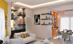 Apartment 3D Photo Realistic Living Dining Rendering - Chennai
