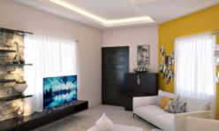 Apartment 3D Photo Realistic Living Room Rendering