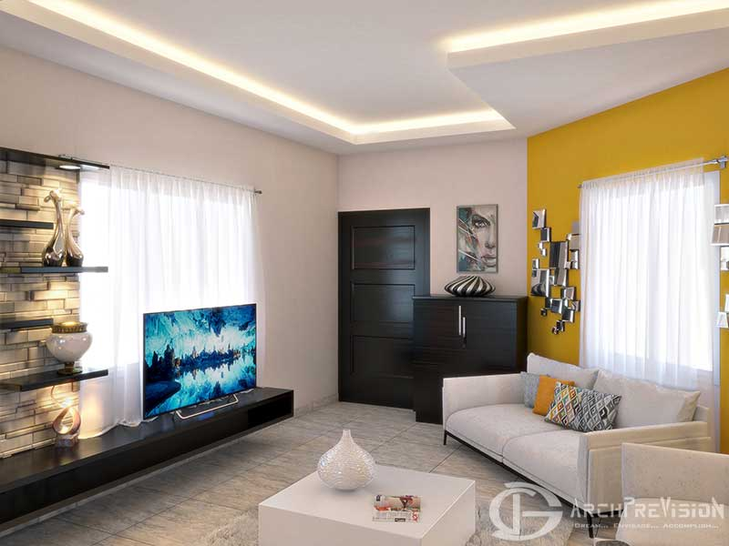 Apartment 3D Photorealistic Livingroom Rendering