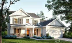 3D Exterior Visualization Day Time Craftsman Style Villa  - USA