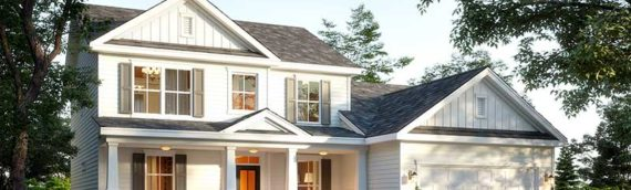 Craftsman Style Residential Exterior Renders – Day & Dusk