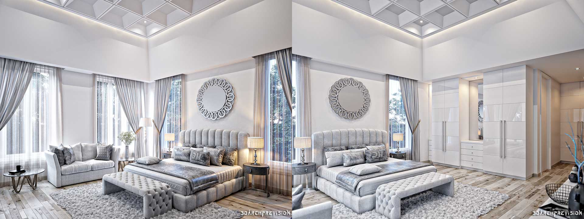 Renders 3d For Master Bedroom Project: Top-Notch 3D Architectural Rendering