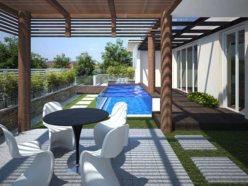 3D Exterior Visualization of a Luxury Apartment - Chennai